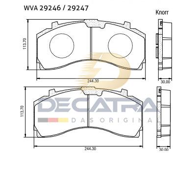WVA 29246 – Disc brake pad
